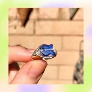 fish wrap-wire ring 💙🐟